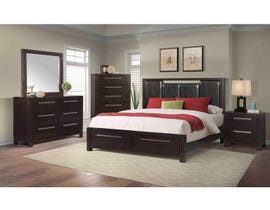 High Society Lansing Collection 6PC King Bedroom Set in Dark Chocolate LS600