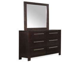 High Society Lansing Collection Dresser and Mirror Set in Dark Chocolate LS600