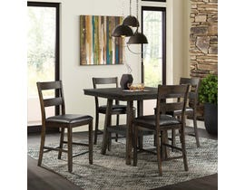 High Society Laredo Collection 5 Piece Counter Dining Set in Chocolate DLD5005