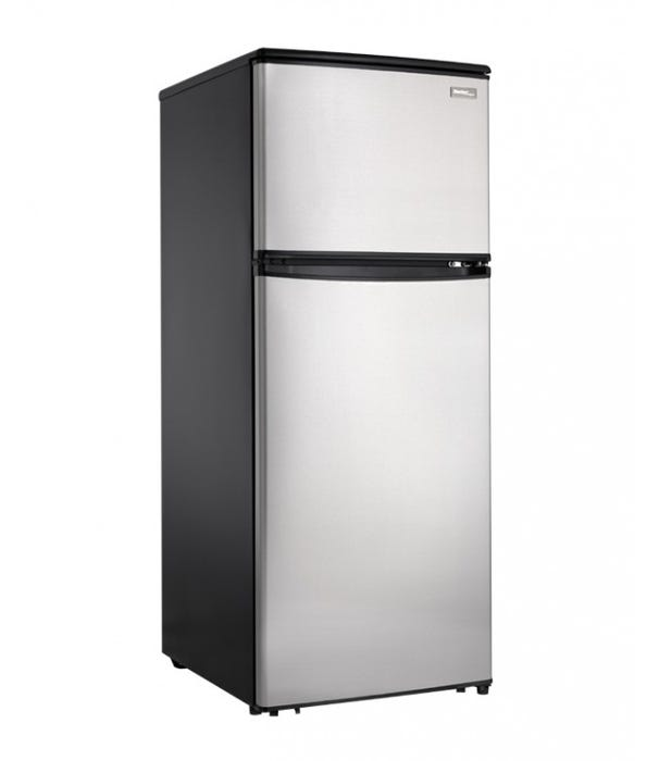 Danby Designer 24 inch 11 cu.ft. apartment size refrigerator in stainless DFF110A1BSSDD