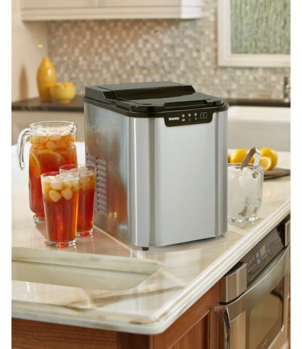 Danby 9 inch 2 lbs ice maker in stainless DIM2500SSDB