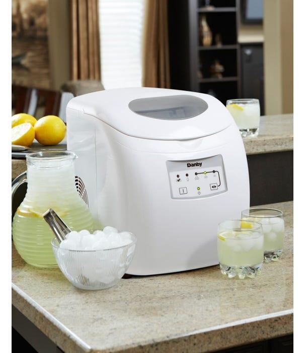 Danby 12 inch 2 lbs ice maker in white DIM2500WDB