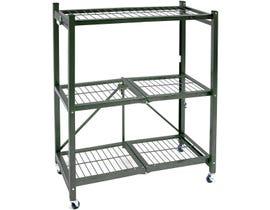 TygerClaw 3 Shelf Foldable Storage Unit in Black LCD86126FR