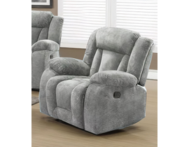 LEEFU Fabric Reclining Chair in Grey UPH8104