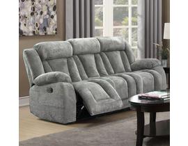 LEEFU Fabric Reclining Sofa in Grey UPH8104