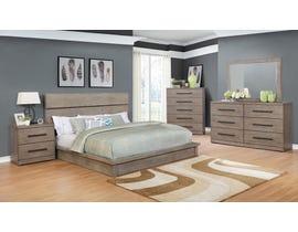 Scottsdale Series 6 PC King Bedroom Set in Grey BD361