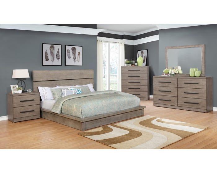 Scottsdale Series 6pc King Bedroom Set in Grey BD361