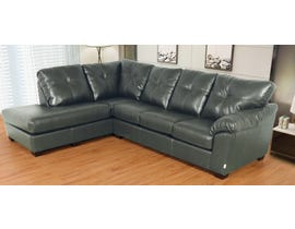 Flaca Leather Air LHF Sectional in Grey 6925