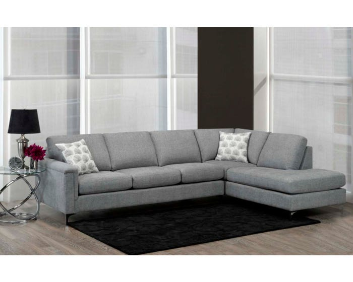 Tremendous Sofa By Fancy Hopkins Collection Fabric Sectional Sofa In Roma Ash Grey 9814 04 18 Inzonedesignstudio Interior Chair Design Inzonedesignstudiocom