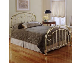 Sinca Lillian King Bed with Metal Frame in Lustre Brass