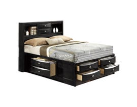 Global Furniture Linda queen bed black LINDA-BL-QB