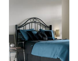 Sinca Linden Twin Headboard with Metal Frame in Ebony