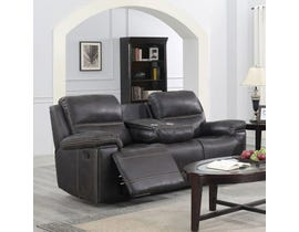 Brassex Beckley Recliner Series Leather Look Sofa in Espresso SA3000