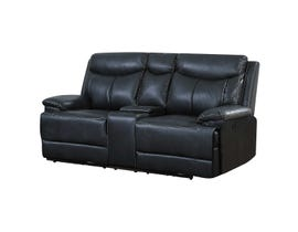 Brassex Power Reclining Loveseat in Black SA2600