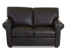 Klaussner Camden Series Leather Loveseat in Charcoal LT50200