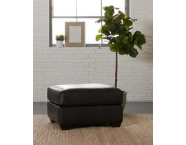 Klaussner Camden Series Leather Ottoman in Charcoal LT50200
