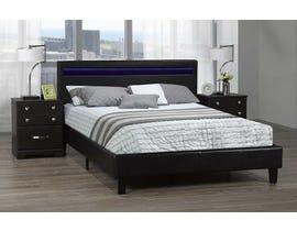 Brassex Dhara Platform Bed w/LED Lighting in Black LX688