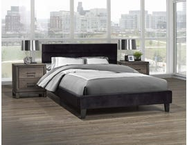 Brassex Orabelle Series Platform Bed in Black LX895