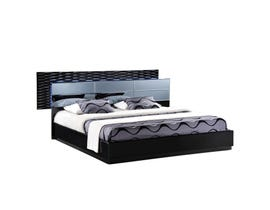 Global Furniture Manhattan black king bed (961-M)-EKB