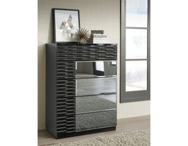 Global Furniture Manhattan Chest Black High Gloss 961 M-CH