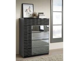 Global Furniture Manhattan Chest Black High Gloss 961 M-CH