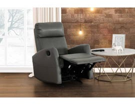 Primo International Marcus Series Leather Look Rocker Recliner in Grey 2564