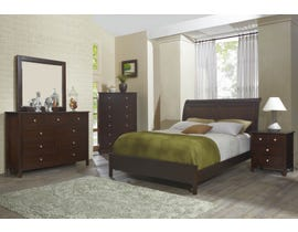 Flair Martin Series 6pc Queen Sleigh Bedroom Set in Merlot