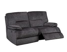 K-Living Maryland Fabric Power Recliner Loveseat with 2 USB Outlets in Grey