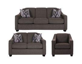 Decor-Rest 3pc Fabric Sofa Set in Maxi Espresso 2934