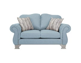 Decor-Rest Fabric Loveseat in Maxi Sky 6933