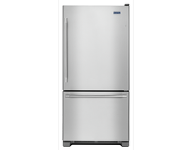 "Maytag 33"" 22 cu. ft. Bottom Mount Refrigerator in Stainless Steel MBF2258FEZ"