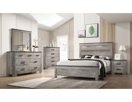 High Society Miller's Cove Series Bedroom Set in Weathered Grey MC300