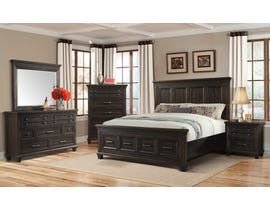 McCabe Collection 6-piece King Storage Bedroom Set in Smokey Gray Oak MB600K