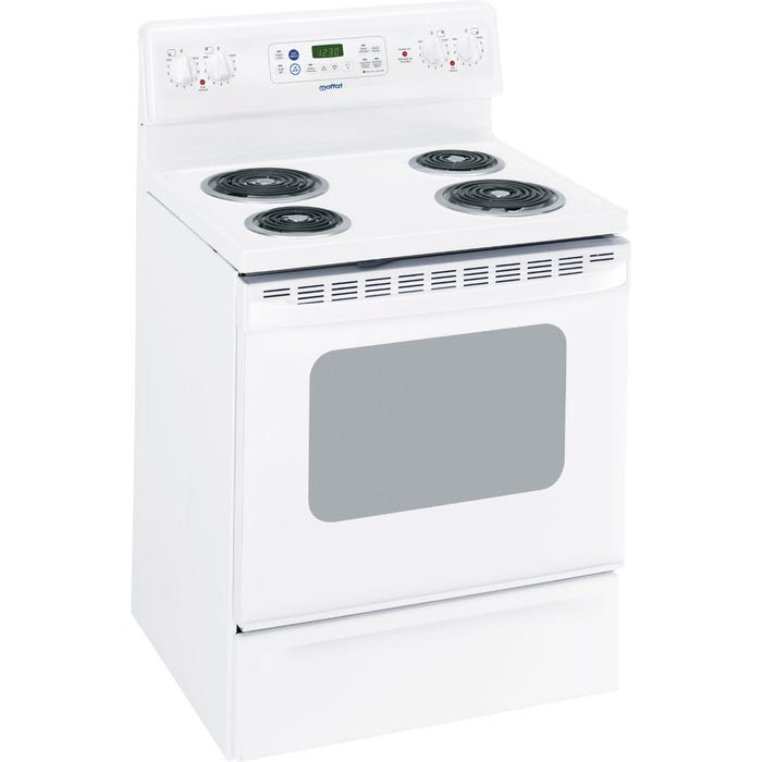 Moffat 30 Inch Free Standing Electric Range in White MCB757DMWW