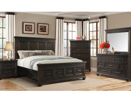 High Society McCabe Series Storage Bedroom Set in Smokey Gray Oak MB600
