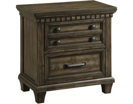 High Society McCabe Series Nightstand w/USB in Smokey Grey Oak MB600