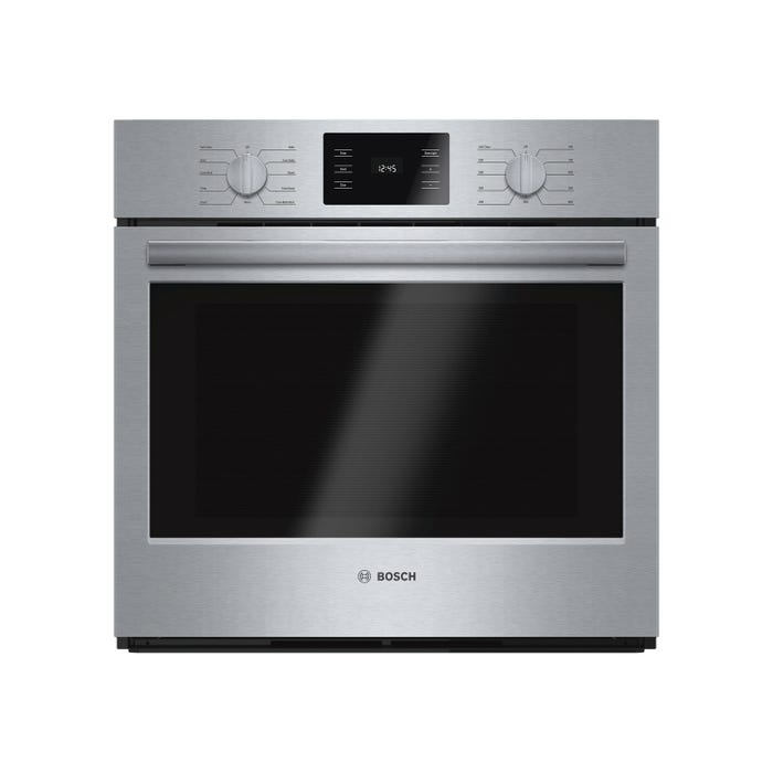 Bosch 29 inch 4.6 cu.ft. Easy Clean Thermal Wall Oven 500 series in stainless steel HBL5451UC