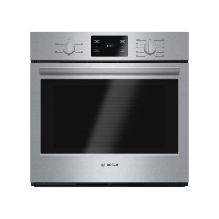 Bosch 29 inch 4.6 cu.ft. Easy Clean Thermal Wall Oven 500 series in stainless steel HBL5351UC