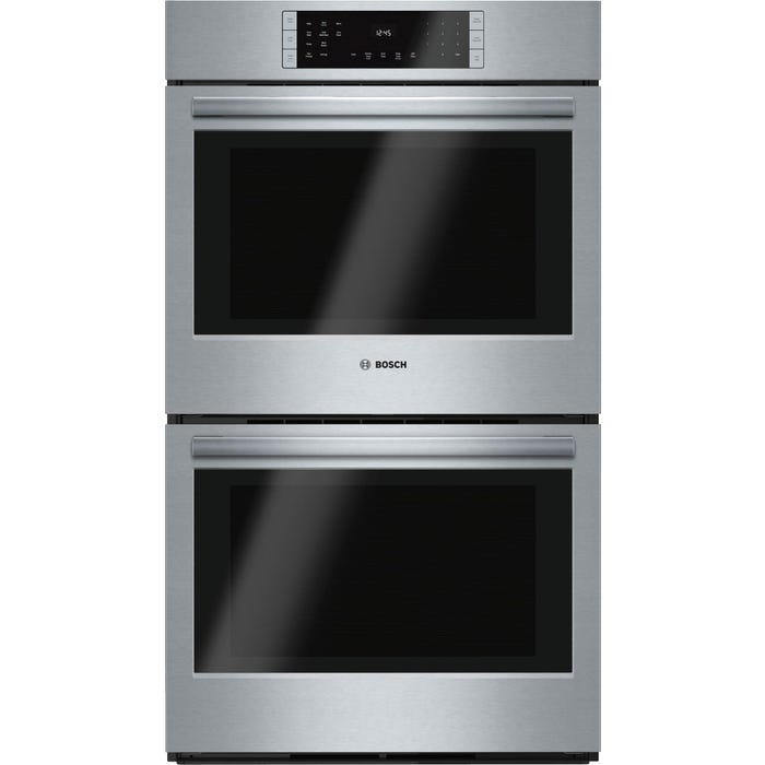 Bosch 30 inch 2 x 4.6 cu.ft. True Convection Double Electric Wall Oven 800 Series in Stainless Steel HBL8651UC