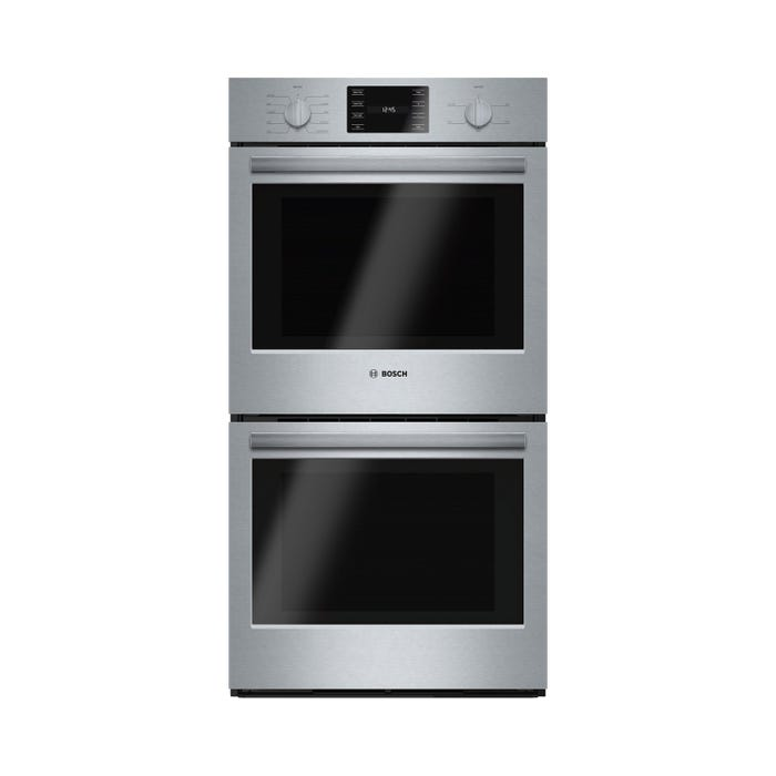 Bosch 27 inch 7.8 cu.ft. True Convection Electric Double Wall Oven 500 Series in Stainless Steel HBN5651UC