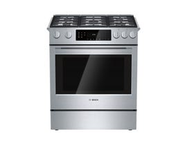 Bosch 30 inch 4.8 Cu. Ft. Self Clean Gas Range in Stainless Steel HGI8054UC