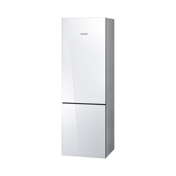 Bosch 24 inch 10.0 Cu. Ft. Bottom Mount Refrigerator  800 Series in white/Glass B10CB80NVW
