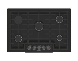 Bosch 30 inch Built-In Gas Cooktop in Stainless Steel NGM8046UC