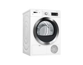 Bosch 800 Series 24 inch 4.0 cu. ft. Smart 14-Cycle Electric Compact Dryer in White WTG865H3UC