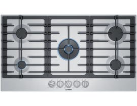 Bosch 36 inch Built-In Gas Cooktop in Stainless Steel NGM8657UC