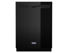 Maytag 24 inch 50 dBA Built-In Dishwasher with Dual Power Filtration in Black MDB4949SKB