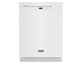 Maytag 50dBA 24 inch Built-In Dishwasher in White MDB4949SKW