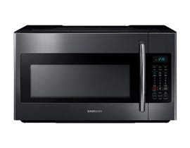 Samsung 1.8 cu.ft. Over the Range Microwave in black stainless steel ME18H704SFG