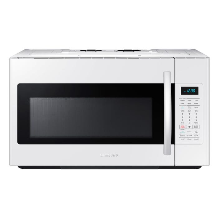 Samsung 30 inch 1.8 cu. ft. Over-the-Range Microwave with Simple Clean Filter in white ME18H704SFW