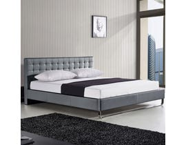 Sinca Metro Sleigh Tall Queen Platform Bed in Grey M17143